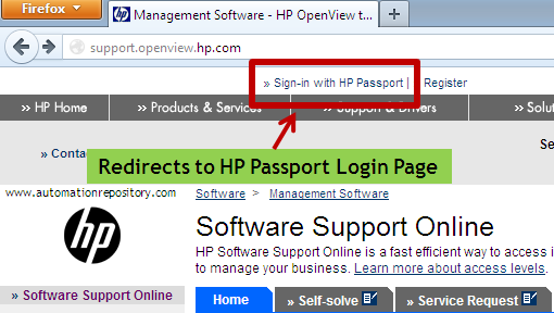 Hp Passport - Login Page