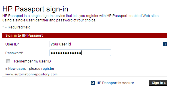 Hp Passport Sign In