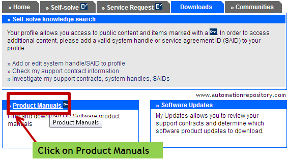 HP Support OpenView Page - Product Manuals Section