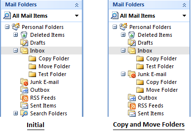 Copy and Move Folders in Outlook