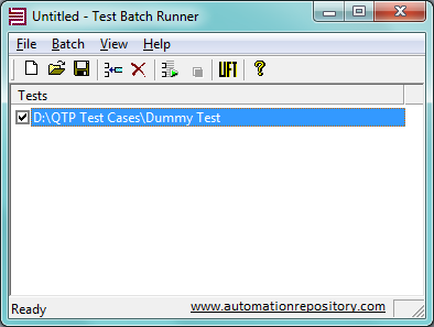 Dummy Test in Test Batch Run tool