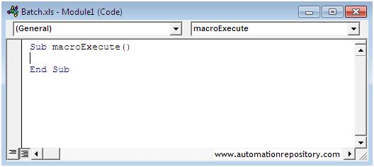 QTP Hybrid Framework - Empty macro function