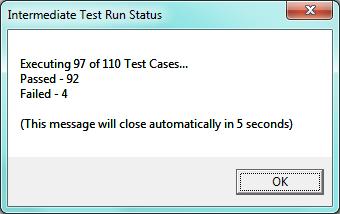 Intermediate Test Run Status