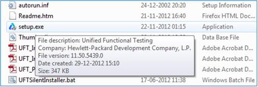 Install UFt 11.5 - setup.exe