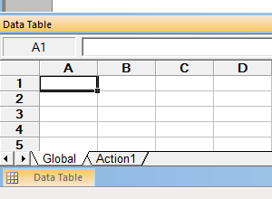 Data Table in QTP