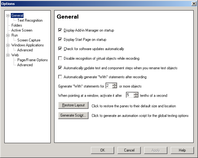 Option Dialog Box in QTP