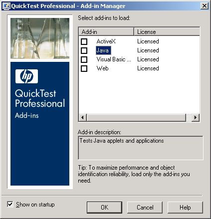 QTP Add-in Manager with newly installed Add-in