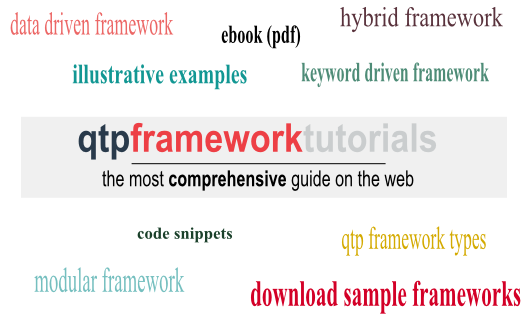 QTP Framework Tutorials - Framework Types, Code Snippets & Sample Frameworks for Download