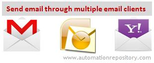 QTP Hybrid Framework - Multiple Email Clients