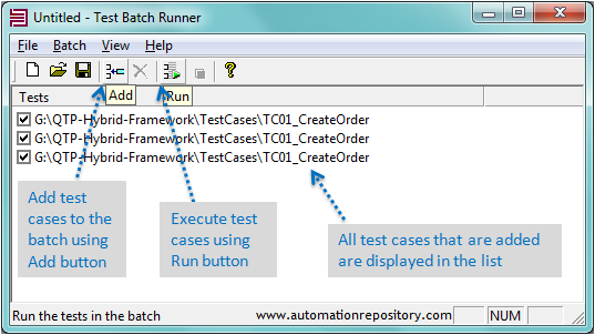 QTP Test Batch Runner Tool