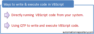 Writing first VBScript Program