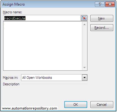 QTP Hybrid Framework - Set macro name