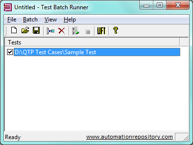 Adding Test Folder to Test Batch Runner tool