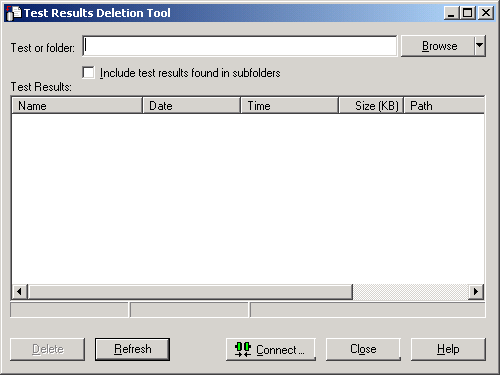 Test Results Deletion Tool