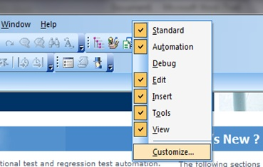 Toolbar Customize